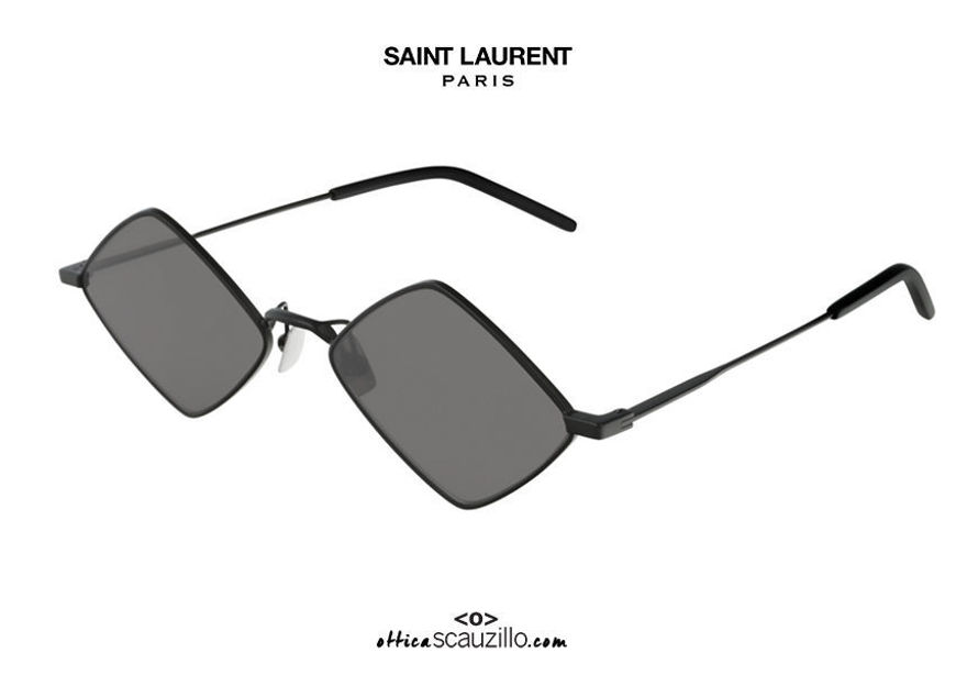 shop online new Saint Laurent SL 302 LISA black rhombus sunglasses su otticascauzillo.com acquisto online nuovo Occhiale da sole a rombo Saint Laurent  SL 302 LISA nero