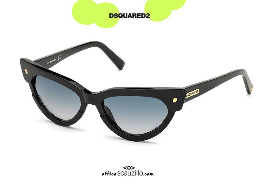 shop online new Dsquared2 MAGDA 0333 pointed cat eye sunglasses col. black on otticascauzillo.com acquisto online nuovo Occhiale da sole cat eye a punta Dsquared2 MAGDA 0333 col. nero