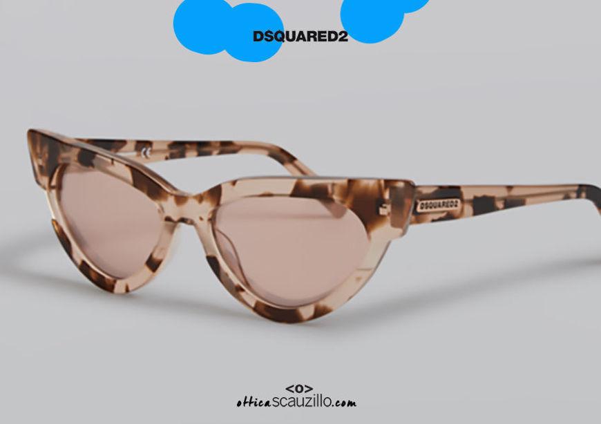 shop online new Dsquared2 MAGDA 0333 pointed cat eye sunglasses col. pink on otticascauzillo.com acquisto online nuovo Occhiale da sole cat eye a punta Dsquared2 MAGDA 0333 col. rosa