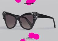 shop online new Pointed sunglasses with diamond rhinestones Dsquared2 MIS FIIS col. black on otticascauzillo.com acquisto online nuovo  Occhiale da sole a punta con strass diamanti Dsquared2 MIS FIIS col. nero
