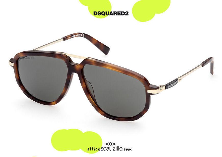 shop online new Squared aviator sunglasses Dsquared2 JACKIE 0364 col. havana brown on otticascauzillo.com acquisto online nuovo Occhiale da sole aviator squadrato Dsquared2 JACKIE 0364 col. marrone avana