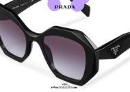 shop online new Oversized geometric sculpture sunglasses PRADA SPR 16W col. black on otticascauzillo.com acquisto online nuovo Occhiale da sole geometrico oversize scultura PRADA SPR 16W col. nero