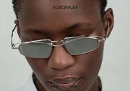 shop online new KUBORAUM Mask H73 silver narrow double bridge metal sunglasses on otticascauzillo.com acquisto online nuovo Occhiale da sole in metallo stretto doppio ponte KUBORAUM Mask H73 argento