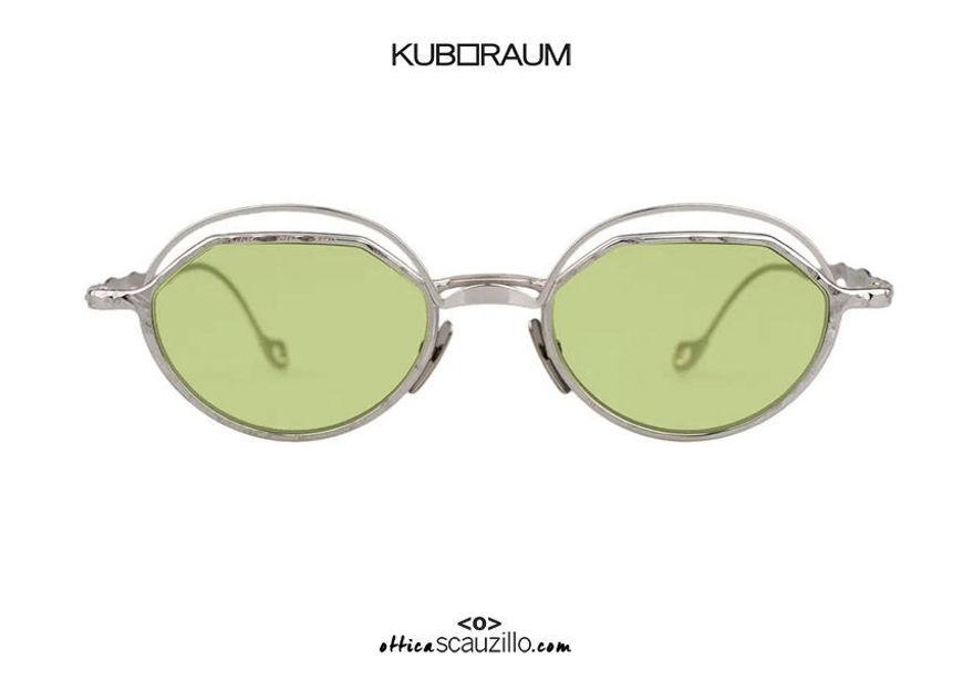 Shop online New round metal sunglasses KUBORAUM Mask H70 silver on otticascauzillo.com acquisto online Nuovo occhiale da sole in metallo tondo KUBORAUM Mask H70 argento