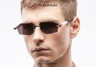 shop online new Rimless sunglasses KUBORAUM Mask P55 black and gold on otticascauzillo.com acquisto online nuovo Occhiale da sole glasant asta a cilindro KUBORAUM Mask P55 nero e oro