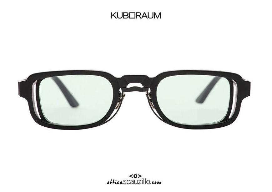 shop online new New rectangular metal bridge sunglasses KUBORAUM Mask N12 black satin on otticascauzillo.com acquisto online nuovo  Nuovo occhiale da sole rettangolare ponte metallo KUBORAUM Mask N12 nero satinato