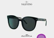 Acquisto online su otticascauzillo.com il tuo nuovo occhiale da sole tondo in acetato STUD Valentino VA 4083 col. 019 giallo havana / grigio.