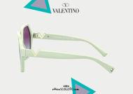 Acquisto online su otticascauzillo.com il tuo nuovo occhiale da sole esagonale in acetato VLOGO SIGNATURE VA 4088 col. 08Y avorio / viola sfumato.