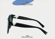 Acquista online su otticascauzillo.com il tuo nuovo occhiale da sole cat-eye esagonale in acetato VLOGO SIGNATURE Valentino VA 4089 col. 018 nero.