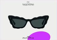 Acquista online su otticascauzillo.com il tuo nuovo occhiale da sole cat - eye in acetato Valentino VA 4092 col. 019 nero