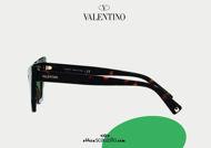 Acquista online su otticascauzillo.com il tuo nuovo occhiale da sole cat - eye in acetato Valentino VA 4092 col. 021 havana / verde