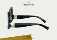 Acquista online su otticascauzillo.com il tuo nuovo occhiale da sole butterfly in acetato con ROMAN STUD Valentino VA 4091 col. 018 nero