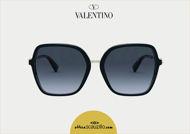 Acquista online su otticascauzillo.com il tuo nuovo occhiale da sole squadrato in acetato con STUD funzionale Valentino VA 4077 col. 018 nero