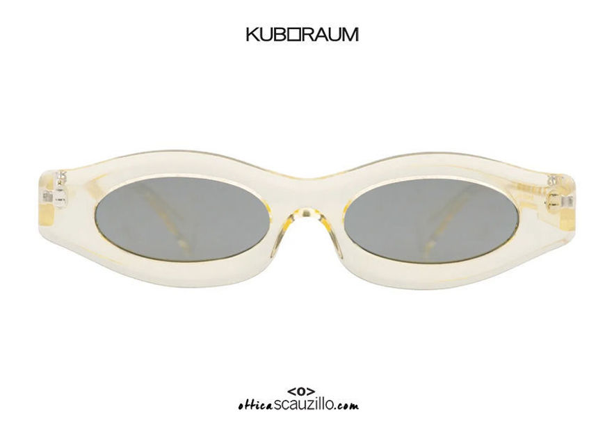 acquisto online nuovo Occhiale da sole ovale stretto KUBORAUM Mask Y5 champagne trasparente su otticascauzillo.com shop online new  KUBORAUM Mask Y5 narrow oval sunglasses transparent champagne