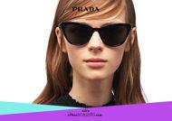 Acquista online su otticascauzillo.com il tuo nuovo occhiale da sole cat eye oversize acetato PRADA SPR 01V col. nero