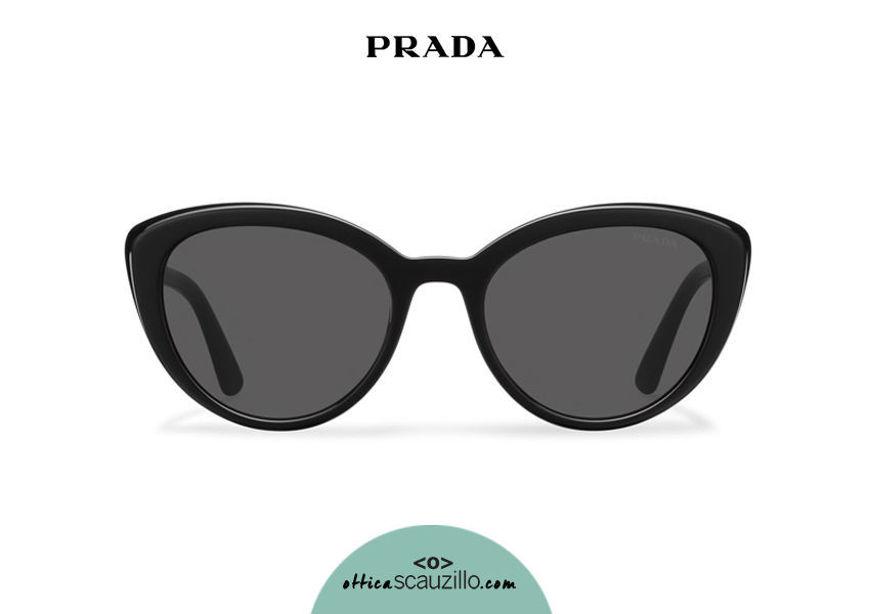 Acquista online su otticascauzillo.com il tuo nuovo occhiale da sole cat eye oversize acetato PRADA SPR 02V col. nero