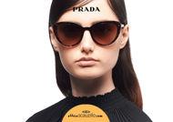 Acquista online su otticascauzillo.com il tuo nuovo occhiale da sole cat eye oversize acetato PRADA SPR 02V col. tartaruga