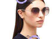 Acquista online su otticascauzillo.com il tuo nuovo occhiale da sole squadrato metallo oversize PRADA SPR 52W col. oro pallido
