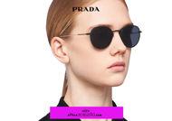 Acquista online su otticascauzillo.com il tuo nuovo occhiale da sole tondo metallo PRADA SPR 53W col. nero