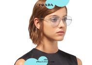 Acquista online su otticascauzillo.com il tuo nuovo occhiale da sole aviator metallo PRADA SPR 66X col. oro pallido