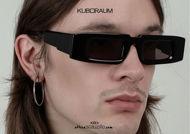 shop online new KUBORAUM Mask X5 shiny black oversized narrow rectangular sunglasses on otticascauzillo.com acquisto online nuovo Occhiale da sole rettangolare stretto oversize KUBORAUM Mask X5 nero lucido