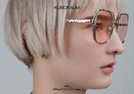 shop online new Oversized square metal sunglasses KUBORAUM Mask H14 silver on otticascauzillo.com acquisto online nuovo Occhiale da sole in metallo squadrato oversize KUBORAUM Mask H14 argento