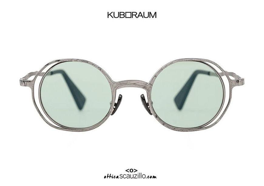 shop online new KUBORAUM Mask H11 silver round metal sunglasses on otticascauzillo.com acquisto online nuovo Occhiale da sole in metallo tondo KUBORAUM Mask H11 argento