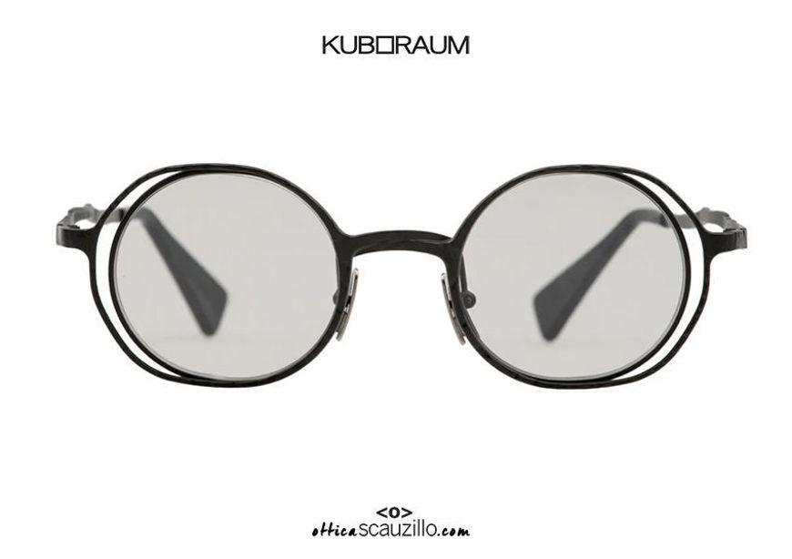 shop online new KUBORAUM Mask H11 black round metal sunglasses on otticascauzillo.com acquisto online nuovo Occhiale da sole in metallo tondo KUBORAUM Mask H11 nero