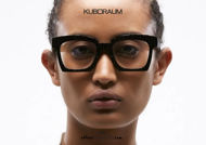 SHOP ONLINE NEW New square KUBORAUM eyewear Mask K5 black diamond effect ON OTTICASCAUZILLO.COM acquisto online nuovo Nuovo occhiale da vista squadrato KUBORAUM Mask K5 nero effetto diamante