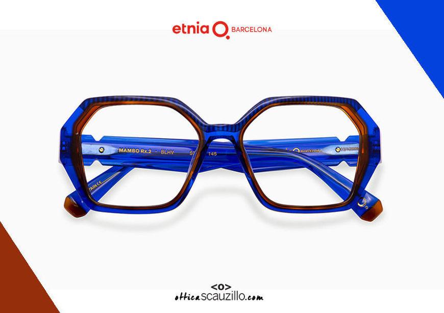 Acquista online su otticascauzillo.com il tuo nuovo occhiale da vista esagono Etnia Barcelona MAMBO RX2 col. BLHV