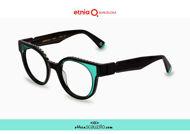 Acquista online su otticascauzillo.com il tuo nuovo occhiale da vista cat eye oversize Etnia Barcelona in acetato MAMBO RX5 col. BKTQ