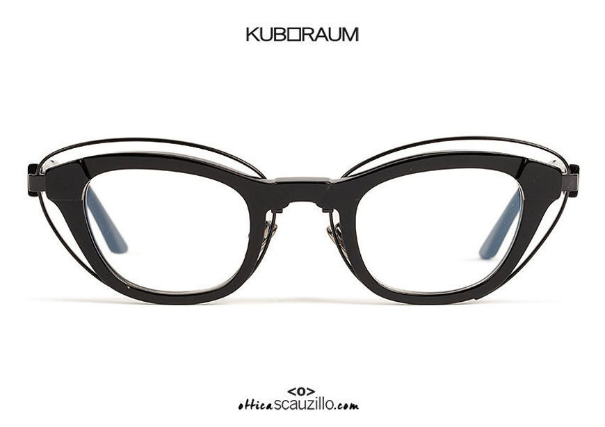 shop online new New narrow cat eye eyeglasses KUBORAUM Mask N11 black on otticascauzillo.com acquisto online nuovo Nuovo occhiale da vista cat eye stretto KUBORAUM Mask N11 nero