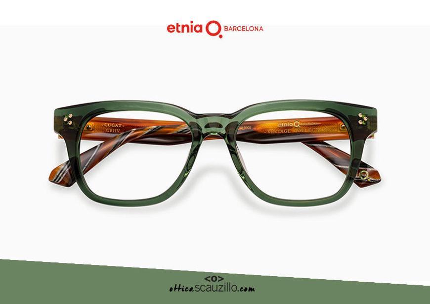 Acquista online su otticascauzillo.com il tuo nuovo occhiale da vista rettangolare Etnia Barcelona in acetato CUGAT col. GRHV