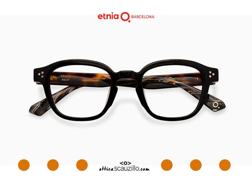 Acquista online su otticascauzillo.com il tuo nuovo occhiale da vista quadrato Etnia Barcelona in acetato GRANT col. BKHV