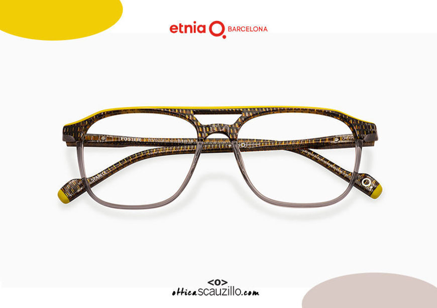 Acquista online su otticascauzillo.com il tuo nuovo occhiale da vista aviator Etnia Barcelona in acetato FOSTER col. YWGY
