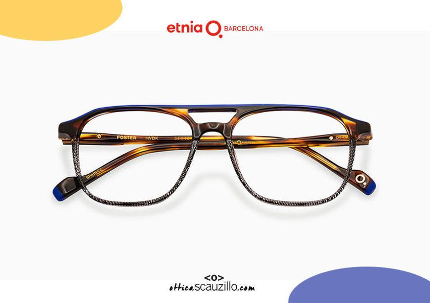 Acquista online su otticascauzillo.com il tuo nuovo occhiale da vista aviator Etnia Barcelona in acetato FOSTER col. HVBK