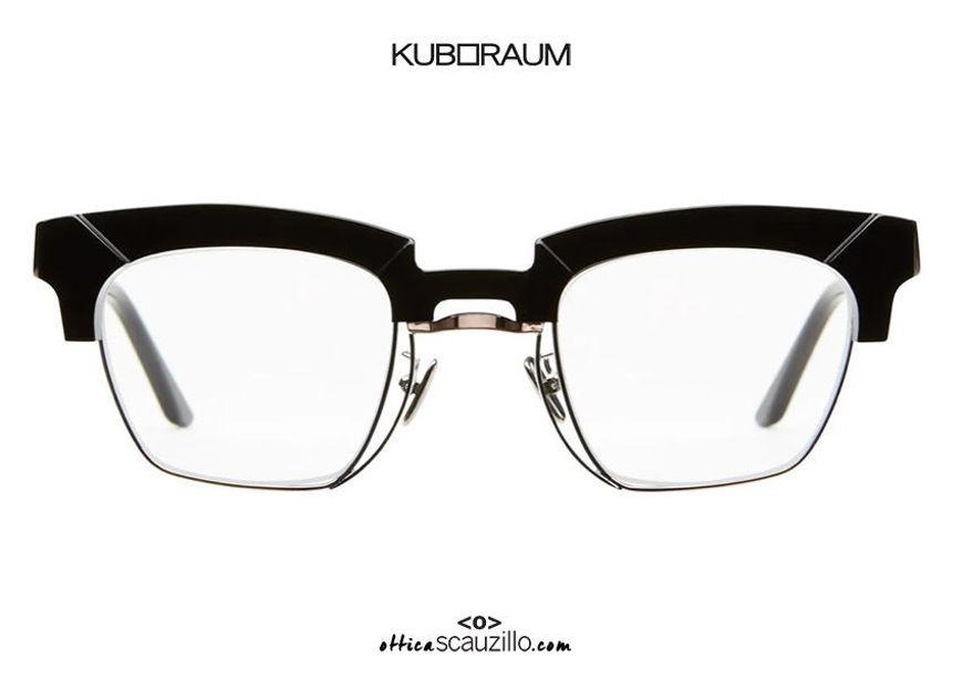 shop online new New vintage eyeglasses with metal insert KUBORAUM Mask N6 black on otticascauzillo.com acquisto online nuovo occhiale da vista vintage inserto metallo KUBORAUM Mask N6 nero