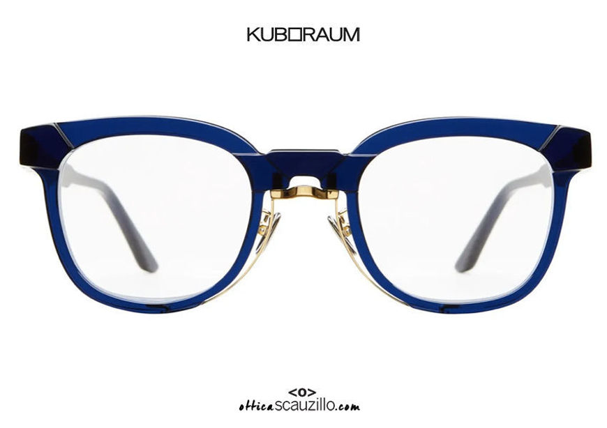 shop online new KUBORAUM Mask N14 BG royal blue gold metal eyeglasse on otticascauzillo.com acquisto online nuovo Occhiale da vista metallo oro KUBORAUM Mask N14 royal blu