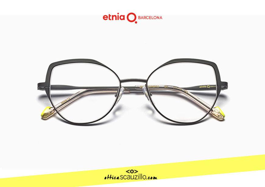 Acquista online su otticascauzillo.com il tuo nuovo occhiale da vista cat eye oversize Etnia Barcelona in metallo ALEKSANDRA col. BK