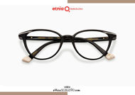 Acquista online su otticascauzillo.com il tuo nuovo occhiale da vista cat eye oversize Etnia Barcelona in acetato VIRGINIA col. BKWH