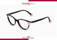 Acquista online su otticascauzillo.com il tuo nuovo occhiale da vista cat eye oversize Etnia Barcelona in acetato VIRGINIA col. BKPK