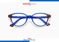 Acquista online su otticascauzillo.com il tuo nuovo occhiale da vista cat eye oversize Etnia Barcelona in acetato VIRGINIA col. BLPK