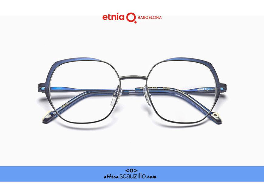 Acquista online su otticascauzillo.com il tuo nuovo occhiale da vista esagonale oversize Etnia Barcelona in metallo GEORGIANA col. BLBK