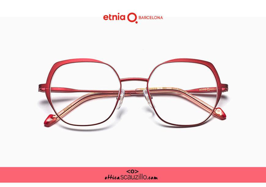 Acquista online su otticascauzillo.com il tuo nuovo occhiale da vista esagonale oversize Etnia Barcelona in metallo GEORGIANA col. RD
