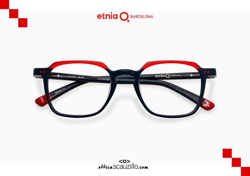 Acquista online su otticascauzillo.com il tuo nuovo occhiale da vista rettangolare Etnia Barcelona in acetato FUJUR col. BLRD