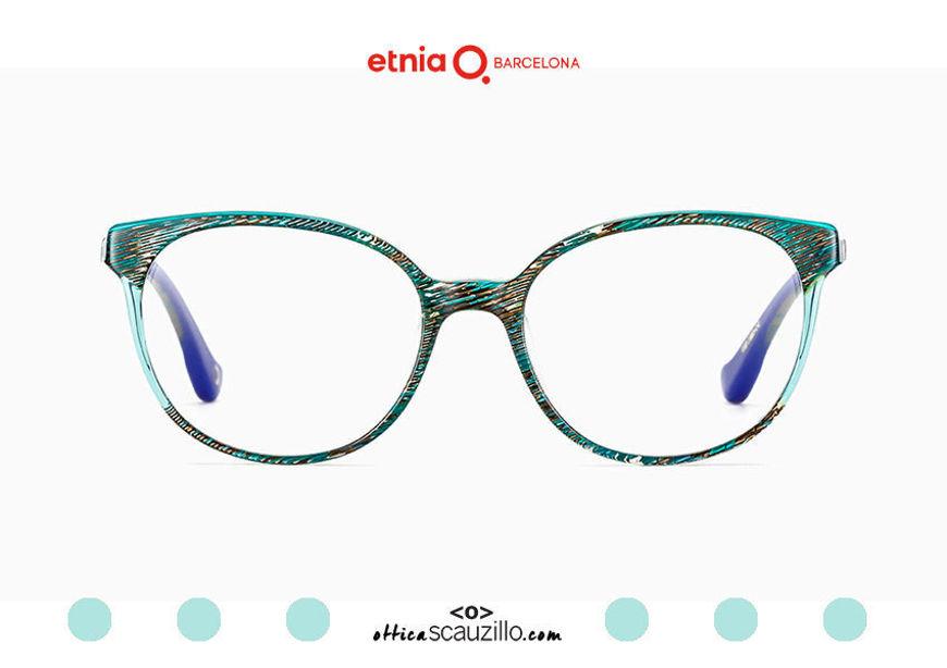 Acquista online su otticascauzillo.com il tuo nuovo occhiale da vista cat eye oversize Etnia Barcelona in acetato HANNAH BAY col. GRTQ