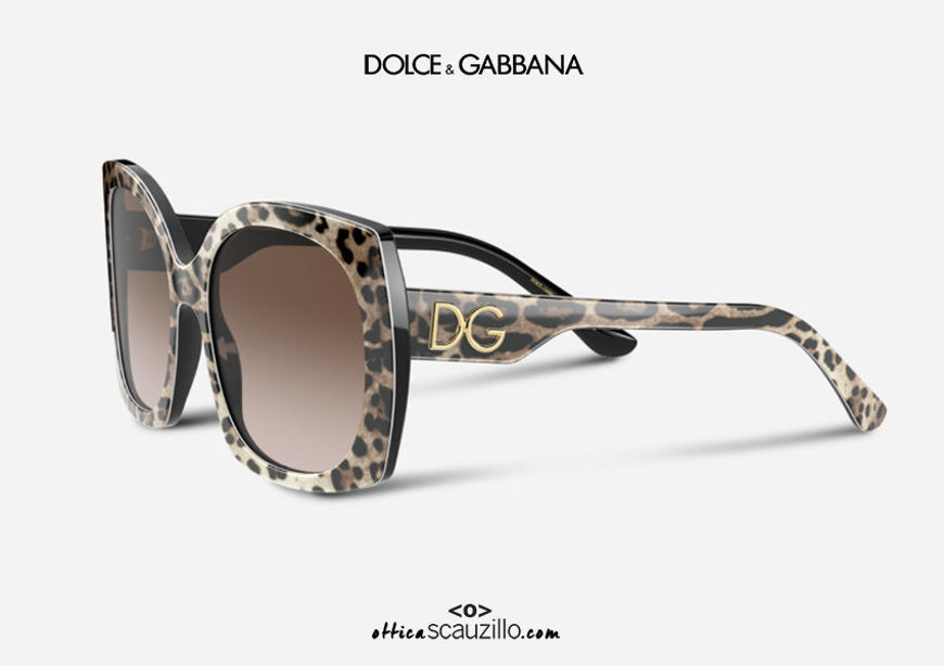shop online new Oversized sunglasses DG4385 col.316313 leopard on otticascauzillo.com acquisto online nuovo Occhiale da sole oversize DG4385 col.316313 leopardo