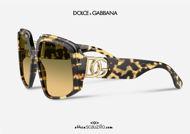 shop online new Oversized havana sunglasses with woven logo DG4386 col. 512 on otticascauzillo.com acquisto online nuovo Occhiale da sole oversize havana logo intrecciato DG4386 col. 512/18