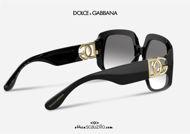 shop online new Oversized black sunglasses with interwoven gold logo DG4386 col. 501 on otticascauzillo.com acquisto online nuovo Occhiale da sole oversize nero logo oro intrecciato DG4386 col. 501/8G