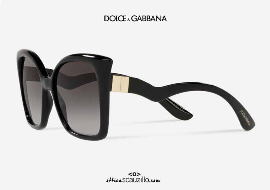 shop online new Oversized square pointed sunglasses DG6168 col. 501 8G black on otticascauzillo.com  acquisto online nuovo Occhiale da sole squadrato oversize a punta DG6168 col. 501/8G nero